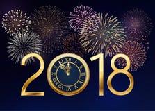 Fond de nouvelle année avec des feux d'artifice Image stock