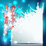 Fond de nouvelle année avec des feux d'artifice Image libre de droits