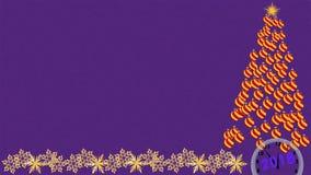 Fond de nouvelle année avec l'arbre de Noël et les boules de Noël images libres de droits