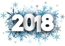 Fond de nouvelle année de l'hiver 2018 illustration libre de droits