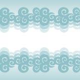 Fond de nuage de vecteur illustration stock