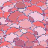 Fond de nuage de vecteur illustration libre de droits