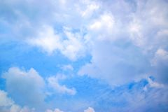 Fond 0098 de nuage et de ciel bleu Photos stock
