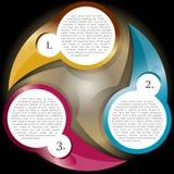 Fond de nuancier de vecteur avec trois niveaux Photographie stock libre de droits