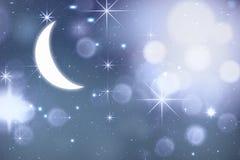Fond de nuit de Noël Images libres de droits