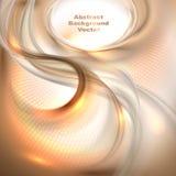 Fond de ondulation brun abstrait illustration de vecteur