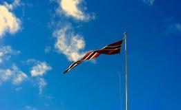 Fond de ondulation de drapeau de la Norvège Photo libre de droits