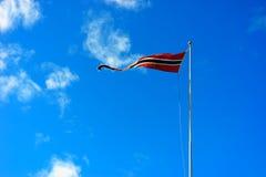 Fond de ondulation de drapeau de la Norvège Image libre de droits