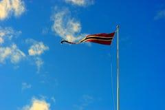Fond de ondulation de drapeau de la Norvège Images libres de droits