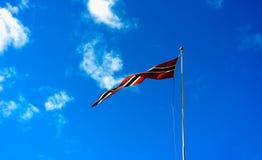 Fond de ondulation de drapeau de la Norvège Photos stock