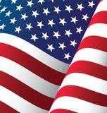 Fond de ondulation de drapeau des Etats-Unis Images libres de droits