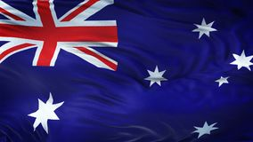 Fond de ondulation réaliste de drapeau d'AUSTRALIE Photographie stock libre de droits