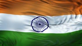 Fond de ondulation réaliste de drapeau d'INDE Images stock