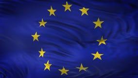 Fond de ondulation réaliste de drapeau d'UNION EUROPÉENNE Photos libres de droits