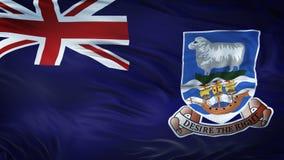 Fond de ondulation réaliste de drapeau des ÎLES FALKLAND Images libres de droits
