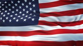 Fond de ondulation réaliste de drapeau des Etats-Unis Images libres de droits