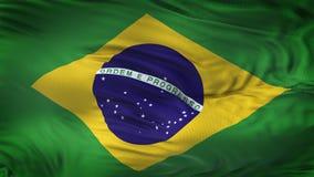 Fond de ondulation réaliste de drapeau du BRÉSIL Photo stock