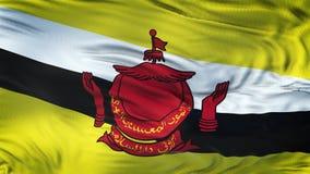 Fond de ondulation réaliste de drapeau du BRUNEI Photos libres de droits
