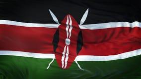 Fond de ondulation réaliste de drapeau du KENYA Photos stock