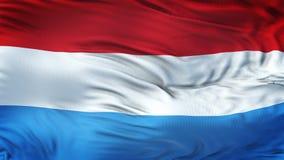 Fond de ondulation réaliste de drapeau du LUXEMBOURGEOIS Photo libre de droits