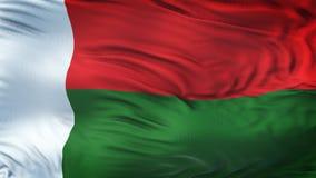 Fond de ondulation réaliste de drapeau du MADAGASCAR Photos libres de droits