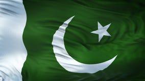 Fond de ondulation réaliste de drapeau du PAKISTAN Photo libre de droits