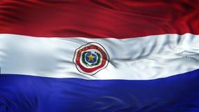 Fond de ondulation réaliste de drapeau du PARAGUAY Photographie stock libre de droits