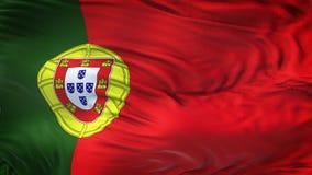Fond de ondulation réaliste de drapeau du PORTUGAL Images libres de droits