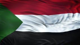 Fond de ondulation réaliste de drapeau du SOUDAN Photographie stock libre de droits