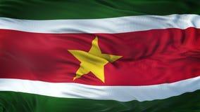 Fond de ondulation réaliste de drapeau du SURINAM Photos stock