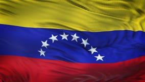 Fond de ondulation réaliste de drapeau du VENEZUELA Images stock