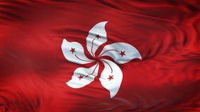Fond de ondulation réaliste de drapeau de HONG KONG Photographie stock libre de droits
