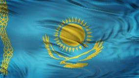 Fond de ondulation réaliste de drapeau de KAZAKHSTAN Photo libre de droits