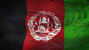 Fond de ondulation réaliste de drapeau de l'AFGHANISTAN Photos stock