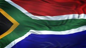 Fond de ondulation réaliste de drapeau de l'AFRIQUE DU SUD Photos stock