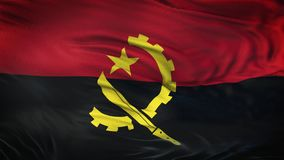Fond de ondulation réaliste de drapeau de l'ANGOLA Photos libres de droits