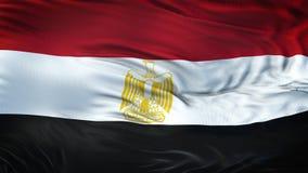Fond de ondulation réaliste de drapeau de l'EGYPTE Photos stock