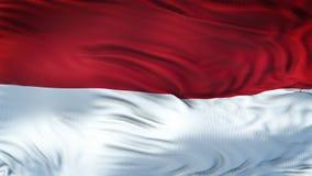 Fond de ondulation réaliste de drapeau de l'INDONÉSIE Photos stock