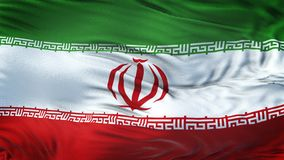 Fond de ondulation réaliste de drapeau de l'IRAN Photos stock