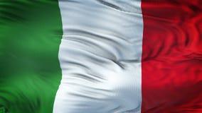 Fond de ondulation réaliste de drapeau de l'ITALIE Photos libres de droits