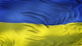 Fond de ondulation réaliste de drapeau de l'UKRAINE Photos libres de droits