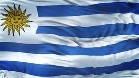 Fond de ondulation réaliste de drapeau de l'URUGUAY Image stock