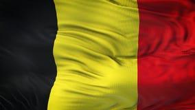Fond de ondulation réaliste de drapeau de la BELGIQUE Photo stock