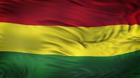 Fond de ondulation réaliste de drapeau de la BOLIVIE Photos stock