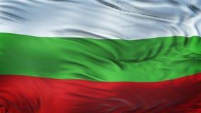 Fond de ondulation réaliste de drapeau de la BULGARIE Photo libre de droits