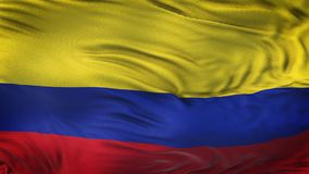 Fond de ondulation réaliste de drapeau de la COLOMBIE Image stock
