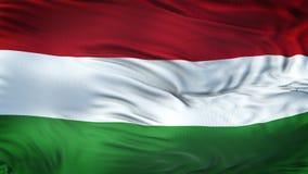 Fond de ondulation réaliste de drapeau de la HONGRIE Image libre de droits
