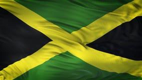 Fond de ondulation réaliste de drapeau de la JAMAÏQUE Photo libre de droits