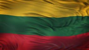 Fond de ondulation réaliste de drapeau de la LITHUANIE Photos stock