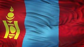 Fond de ondulation réaliste de drapeau de la MONGOLIE Photo libre de droits